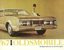 1967 Oldsmobile 98 88 Toronado Cutlass 442 F-85 Vista Cruiser Sales Brochure