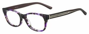 JIMMY CHOO 193 EYEGLASSES Violet Havana Brown 52-16-140 JC193 0F7X J