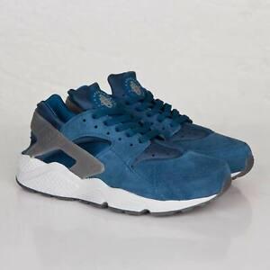 ** Nike Air Huarache Blue Force Suede Trainers uk size 9 EUR 44 EU 10   **
