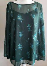 Ava & Viv Women's Plus Size 3x Floral Print Long Sleeve Chiffon Blouse W/cami