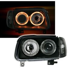2 PHARES ANGEL EYES VW POLO 6N2 NOIR CRISTAL PHARE OPTIQUE 09/1999-07/2001
