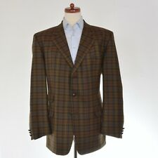 DAKS London Sakko Jacket Gr 56 Plaidmuster Check Wolle Wool Made in UK HERBST