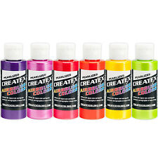 Createx PEARL SAMPLER 6 Color SET 5811 - 00 Airbrush Paint Hobby Craft