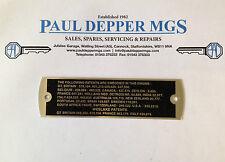 MGA/ MGB Westlake Patents Rocker Cover Plate (LMG1034)