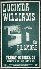 Lucinda Williams Fillmore Concert Poster SF 1997