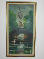 Vintage Original Oil Painting On Board Signed, By Kros