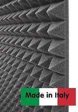 Stock 10 mq pannelli fonoassorbenti isolanti 100x100x5,5 cm NERI piramidale NEW