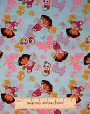 Dora The Explorer Boots Butterfly Cartoon 28207 Novelty Cotton Fabric 1.58 Yards