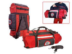Feuerwehr Bekleidungstasche, Tasche Trolley Rucksack 3in1 ,Rettungsdienst Tasche