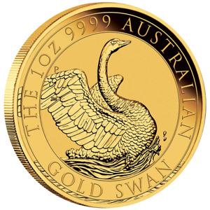 Australien - 100 Dollar 2020 - Schwan - Premium-Anlagemünze - 1 Oz Gold ST