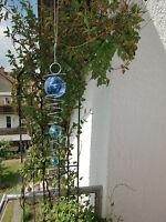 Spirale mit 3 Kugeln silber Optik Windspiel Dancer blau türkis Feng Shui Ø 50mm
