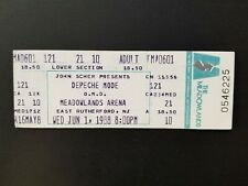 RARE UNUSED TICKET FOR DEPECHE MODE AT MEADOWLANDS ARENA NJ 1988