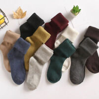 Fashion Women 90%Cashmere Wool Thick Warm Soft Comfort Sports Solid Casual Socks