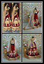 Designer Wear Bridal Maroon Stunning Lehenga Choli