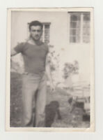 Affectionate Handsome Young Man Cute Guy Nice Torso Gay Int Vintage Old Photo