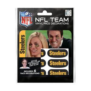 Pittsburgh Steelers 6er Fan Tattoo Face Sticker NFL Football New