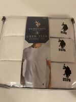 Polo Ralph Lauren Mens Undershirts 3 Pack Crew Neck Tees Classic Fit Medium-NWT
