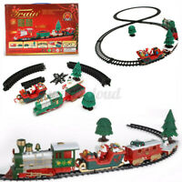 Musical Christmas Train and Carriages Set with Light Children Kids Toy Xmas Gift