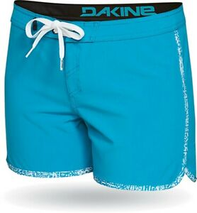 "Dakine Women's Freeride 4"" Boardshorts Size 5 Ocean Depths Blue Board Shorts New"
