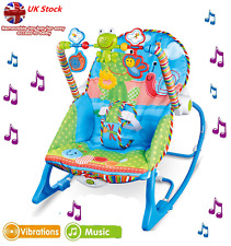 Baby Bouncer Chair Seat Infant Toddler Boy Girl Soft Swing Vibration Rocker Cozy