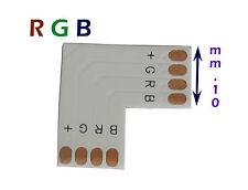 banda di connessione angolo retto, mm.10 a 4 pin per strisce led RGB