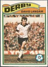 TOPPS 1978 FOOTBALLERS #304-DERBY COUNTY-DAVID LANGAN *ROOKIE*