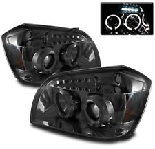 Dodge 05-07 Magnum Smoke Dual Halo Projector Headlights w/ Signal Lamps SE SXT