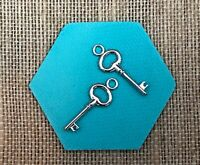Authentic Origami Owl Silver Key Earring Drops - NEW
