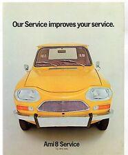 Citroen Ami 8 Service Van 1972-73 UK Market Foldout Sales Brochure