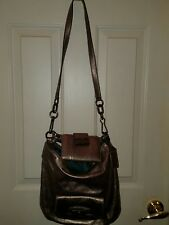 Coach  Metallic  Kristin Leather  Hobo  Handbag #14783 with New matching wallet