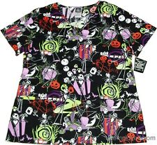 Uniform Scrub Top Womens Nurse Medical Shirt V Neck Pockets Vet Clinic Scrubs