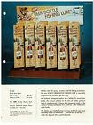 1960s-70  Schlitz Beer Bottle Fishing Lure Ad Sheet