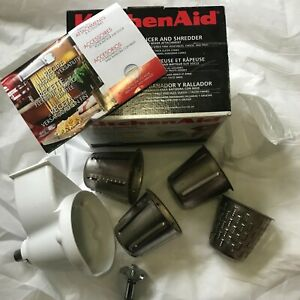 NIB KitchenAid Rotor Slicer & Shredder Stand Mixer Attachment w/ Cones + Shaft