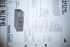 Service Manual  Sony TA-A77N/TA-D709N Amplifier,ORIGINAL