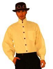 Men's Steampunk Beige Shirt Medieval Victorian Adult Costume Accessory Std