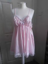 ADULT BABY~SISSY~MAIDS~UNISEX FAUX SILK AND LACE BABYDOLL ~ NIGHTIE
