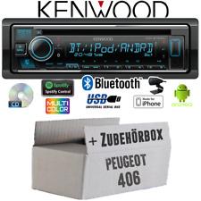 Kenwood Radio für Peugeot 406 Bluetooth Spotify iPhone Android CD/MP3/USB Einbau