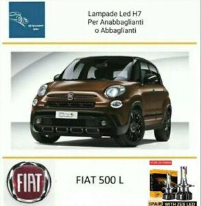 Kit Led ZES H7 6000k 12000LM Anabbaglianti Abbaglianti Fiat 500L No Error White