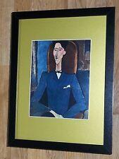 Framed 12''x16'', Modigliani, Jean Cocteau, masters paintings, Rare prints