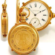 RARE 18 SIZE 18K GOLD BOX HINGE CASE HOWARD SERIES IV POCKET WATCH CA1870