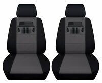 Fits 2015-2018 Jeep Renegade   front set car seat covers  with design