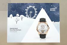 MONTBLANC COLLECTIONS CHRISTMAS 2016 TIMEPIECES GIFTS WATCH CATALOG 60 Pgs PENS