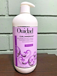 Ouidad Curl Immersion No-Lather Coconut Cream Cleansing Conditioner 16oz W/ PUMP