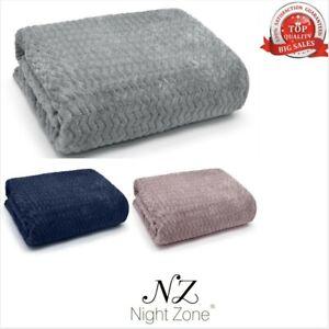 Wave Luxury Throw Fleece Blanket Sofa Couch Wavy Bed Throw Blanket
