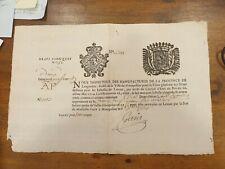 MANUFACTURE DE DRAPS EN LA VILLE DE MONTPELLIER 1756