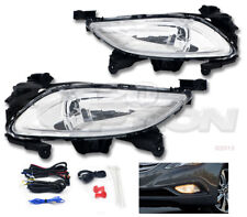 OE STYLE FOG LIGHTS PAIR CLEAR LENS LAMPS SWITCH HARNESS FOR 11-14 SONATA