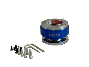 Snap Off Sparco Blue Quick Release Adapter Steering Wheel Boss Kit Hub Racing
