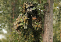 3D Hunting Tactical Camouflage Tree Leaves Camo Ghillie Suit Jacket Pants Set