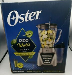Oster Pro® 1200 Plus Blend-N-Go Smoothie Cup Brushed Nickel NEW Damaged Box A