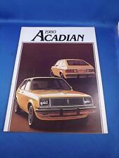 1980 PONTIAC ACADIAN CAR SALES BROCHURE OPTIONS FEATURES COLORS
